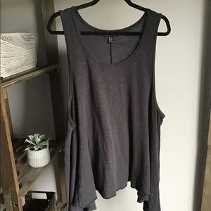 Forever21 Gray High & Low Sides Tank Top